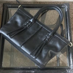 Black Purse with gold